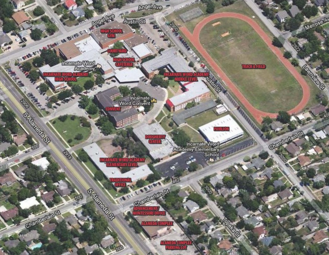 Uiw Campus Map Incarnate Word Academy: Campus Map Uiw Campus Map